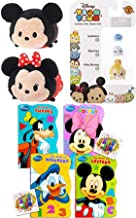 Tsum Tsum Stack Fun Series Figure Mini 3 Pack Stackers Sadness / Miss Bunny (Bambi) / Baymax Bundled with Plush Mickey & Minnie Mouse + Classic Shaped Book Pals 3 Items