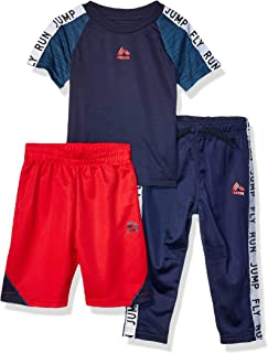 RBX Baby-Boys 3 Piece Performance Top, Short and Pant Set Pants Set - Blue - 24M