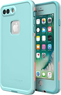 Lifeproof FRĒ SERIES Waterproof Case for iPhone 8 Plus & 7 Plus (ONLY) - Retail Packaging - WIPEOUT (BLUE TINT/FUSION CORAL/MANDALAY BAY)