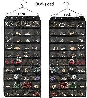 BB Brotrade Hanging Jewelry Organizer,Accessories Organizer,Oxford 80 Pocket Organizer for Holding Jewelries (Black)