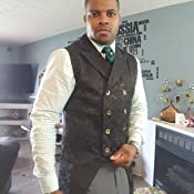Mens Gothic Punk Vest Double Breasted Dress Collar Waistcoat Gothic Steampunk 50