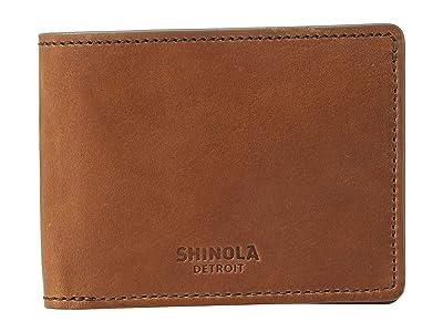 Shinola Detroit Slim Bifold 2.0 Harness (Bourbon) Bi-fold Wallet