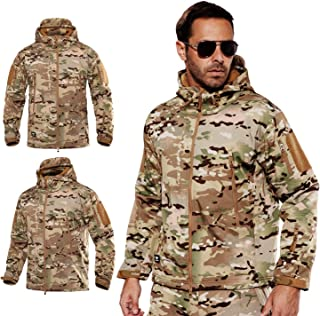 Balakie Mens Plus Size Military Coat Tactical Outwear Breathable Light Windbreaker
