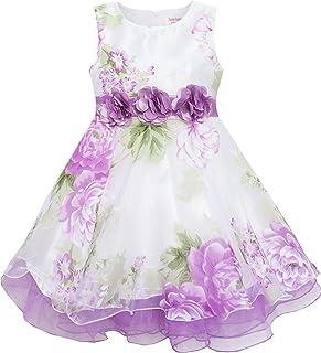 子供ドレス 女の子ドレス キッズドレス 蝶ネクタイ 3 層 ダイヤモンド 紫 ガール 100/110/115/130/140cm