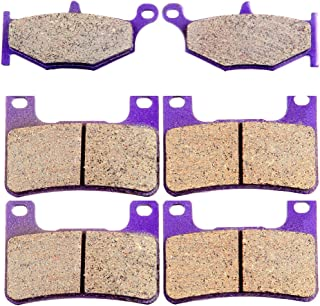 ECCPP FA379 FA254 Brake Pads Front and Rear Carbon Fiber Replacement Brake Pads Kits Fit for 2006-2009 Suzuki,2008-2009 2011-2012 Suzuki Hayabusa,2013 Suzuki Hayabusa GSX1300RA ABS