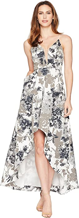 Adrianna Papell Faille Long Dress