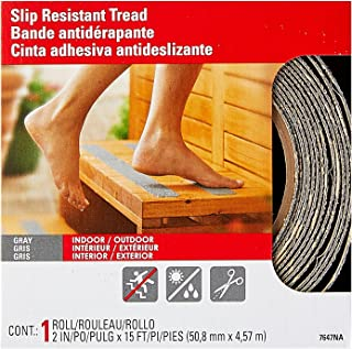 3M Safety-Walk Gray Indoor/Outdoor Tread, 2-Inch by 180-Inch Roll, 7647NA