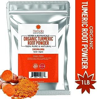 Organic Turmeric Root Powder 1 Pound, Wholefood Dietary Supplement 100% Pure, Non-GMO, Gluten-Free & Kosher Turmeric Powder, 1Lb