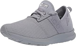 New Balance Women's Nergize V1 FuelCore Sneaker, Steel/Sea Salt, 11 B US