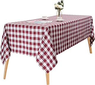 """Buffalo Checkered Tablecloth Rectangular Table Cover 60"""" x 84"""" Waterproof Gingham Grid Wipeable Tablecloth for Dining Banq..."""