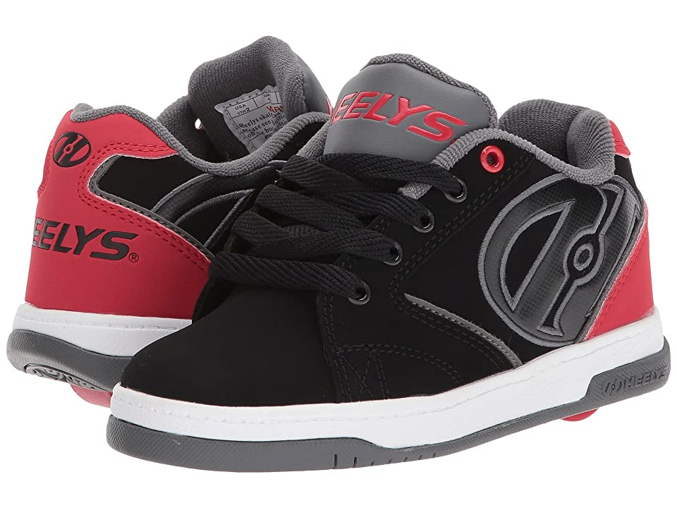 Heelys Propel 2.0 (Little Kid/Big Kid) (Black/Red/Grey) Boys Shoes