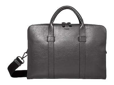 Shinola Detroit Guardian Briefcase Calfino (Asphalt) Bags
