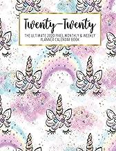 Twenty-Twenty The Ultimate 2020 Pixel Monthly & Weekly Planner Calendar Book: Rainbow Unicorn Face   13 Month   December 2019 - December 2020   8.5 X ...   Work   School   Mom   Bridesmaid Gift