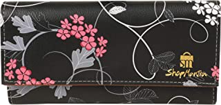 ShopMantra Women's Canvas Clutch (Black Rose Multi color,Lw00000224)