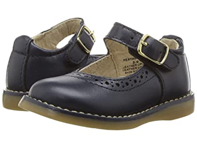 FootMates Heather (Infant/Toddler/Little Kid) (Navy Pearlized) Girl