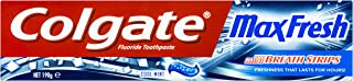 Colgate Max Fresh Breath Toothpaste with Mini Breath Strips Cool Mint, 190g