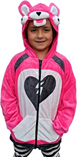 ComfyCamper Pink Bear Costume Hoodie for Boys Girls Kids Teens Youth and Adults (10-12 Years)