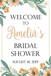 Floral Bridal Shower Party Sign, Welcome Sign, Flowers Decor, Floral Greenery Bridal Shower, Wedding Shower Gifts, Bridal Shower Banners and Signs, Bachelorette Party, Handmade Party Poster Print