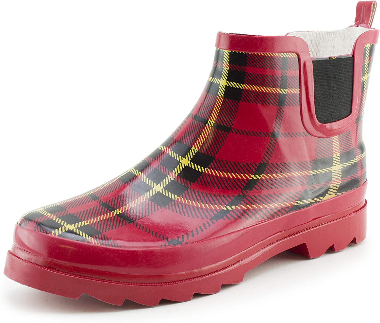 Star Bay Women's 6 Tall Inch Rain Yard Ankle Boots (Adults)