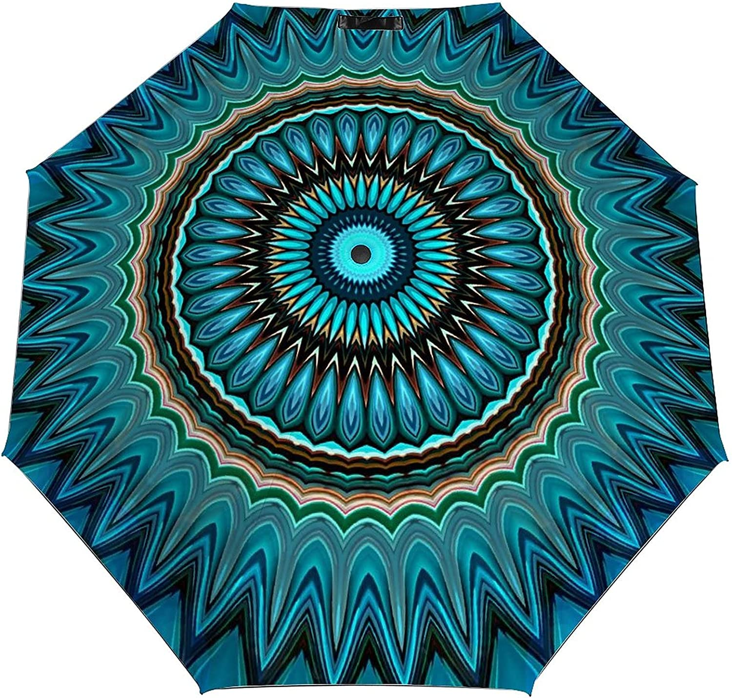 Turquoise Teal Green Complete Free Shipping Circle Umbrella U Max 76% OFF Portable Travel Windproof