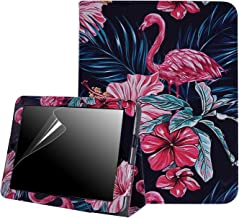 HDE Case for Original iPad 1st Generation - Slim Fit Leather Cover Stand Folio with Magnetic Closure for Apple iPad 1 (Pink Flamingos)