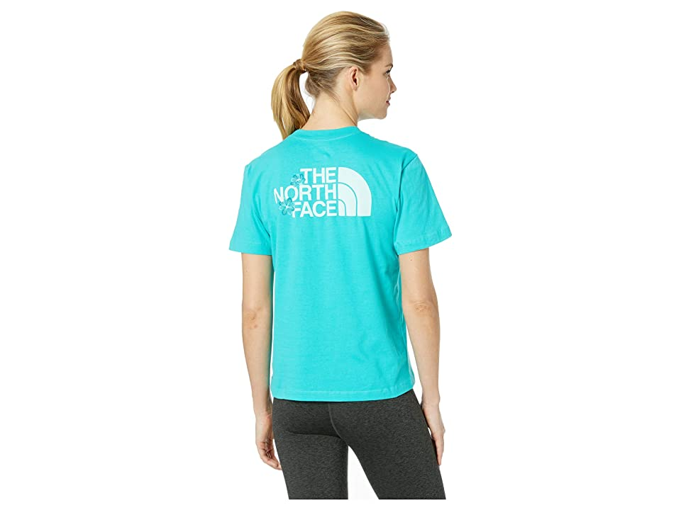 The North Face Short Sleeve Boxy Floral Tee (Ion Blue) Women