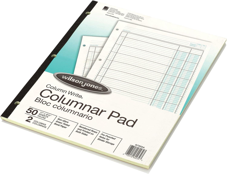 Wilson Jones Columnar Pad, ColumnWrite, 8-1/2