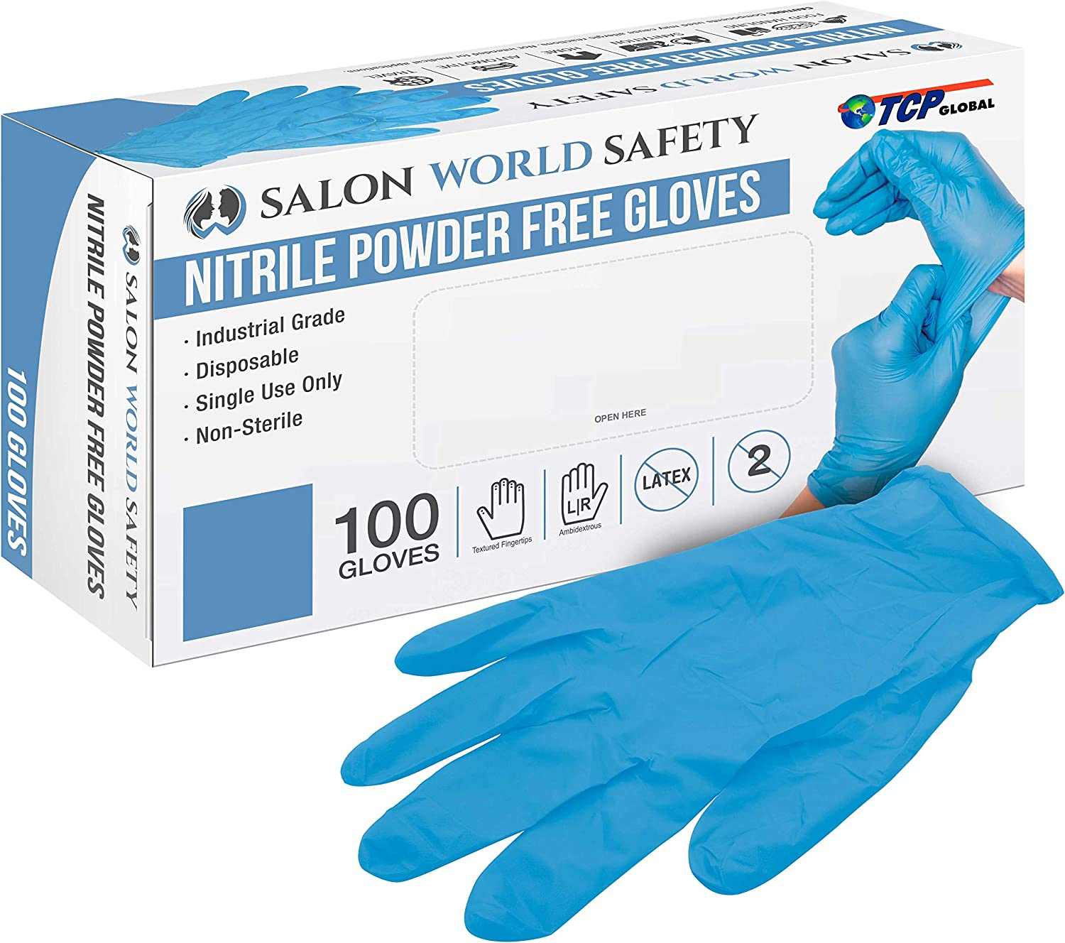 Salon World It is very popular Safety Black Nitrile trend rank 100 of Disposable Gloves Box