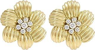 Gehna Yellow Gold, Stud Earrings for Women