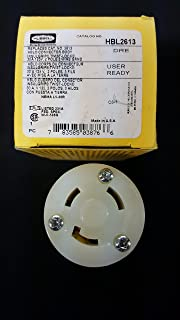 Hubbell HBL2613 Locking Devices, TwistLock, Industrial Grade, Female Connector Body, Screw Terminal, 30 amp, 125V, 2 Pole, 3 Wire Grounding, L5-30R, Black and White