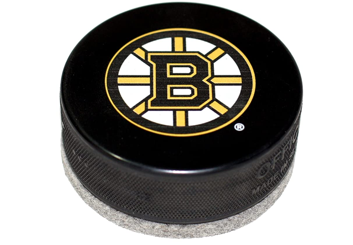 EBINGERS PLACE Boston Bruins Hockey Puck Board Eraser for Chalk Boards and Whiteboards