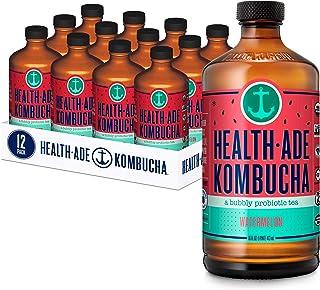 Sponsored Ad - Health-Ade Kombucha Tea Organic Probiotic Drink, 12 Pack Case (16 Fl Oz Bottles), Watermelon