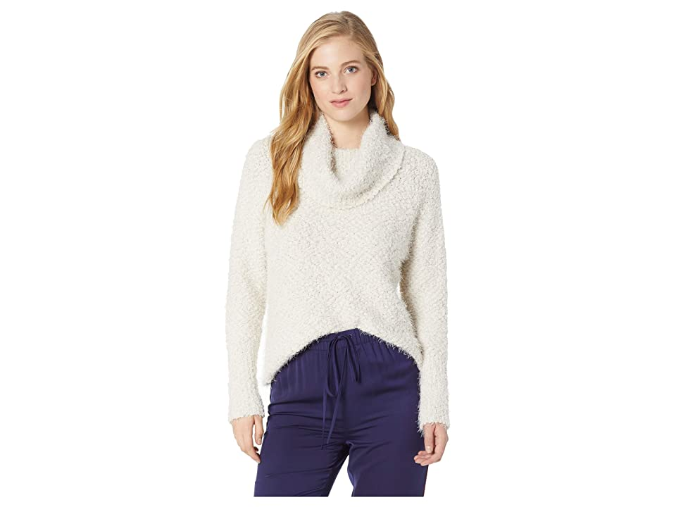 Cupcakes and Cashmere Grover Eyelash Cowl Neck Sweater (Oatmeal) Women