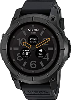 Mission Action Sports Smartwatch A1167. 10 ATM Water Resistant and Shock Resistant Men's Watch (48mm. Silicone Band)
