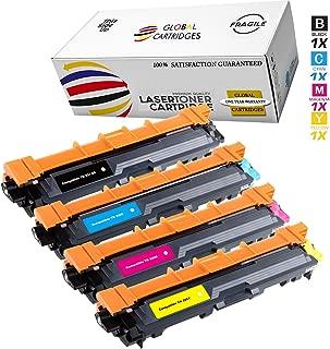 GLB Brother TN221 TN225 Premium Compatible High Yield Toner Cartridge Set(Black, Cyan, Magenta,Yellow)