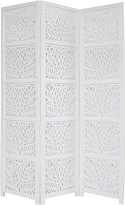 Amazon.com: Key West Screen,Room Divider, Carved Floral ...