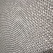 HOGAR24 ES Base tapizada 135 x 180 Reforzada con 6 Patas metálicas Alto 26 cm, tapizado 3D Color Beige + 4 válvulas de transpiración.