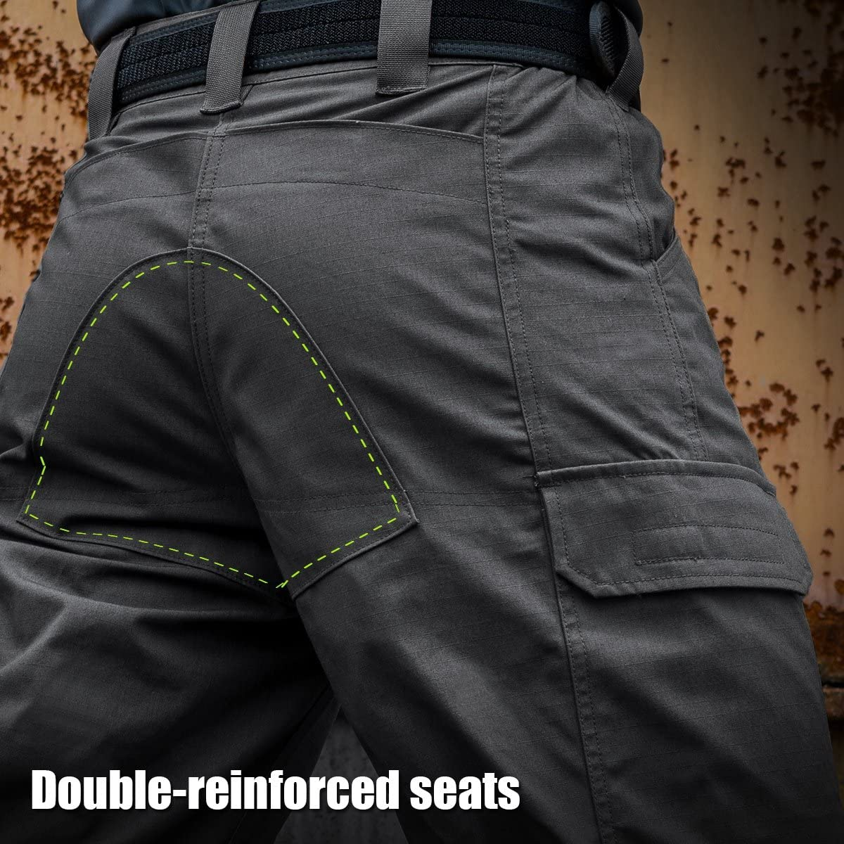 FREE SOLDIER Mens Tactical Cargo Shorts Relaxed Fit Water Resistant Work Hiking Shorts