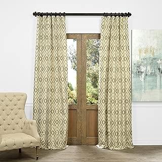 JQCH-AS225092-84 Faux Silk Jacquard Curtain, Dart Natural, 50