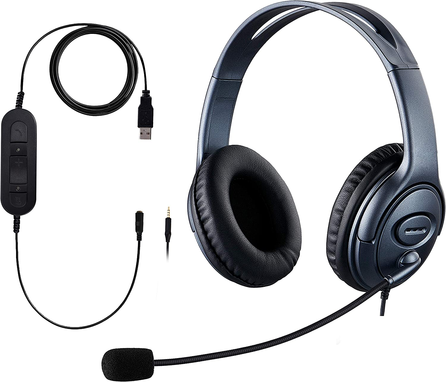A surprise price is realized USB Headset 3.5mm Computer Noise Microphone Max 45% OFF Cancel with