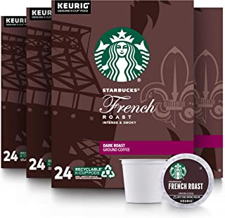 Starbucks Dark Roast K-Cup Coffee Pods — French Roast for Keurig Brewers — 4 Boxes (96 Pods Total)