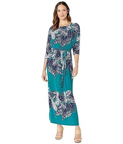 Tommy Bahama Las Palmas Dolman Maxi Dress (Deep Sea Teal) Women