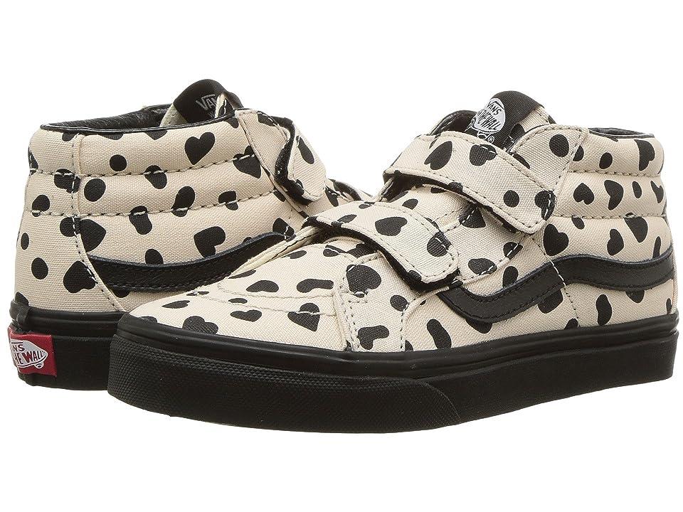 Vans Kids SK8-Mid Reissue V (Little Kid/Big Kid) ((Cheetah Hearts) Sand Dollar/Black) Girls Shoes
