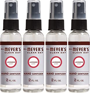 Mrs. Meyer's Clean Day Antibacterial Hand Sanitizer Spray, Removes 99.9% of Bacteria on Skin, Lavender Scent, 2 oz - Pack ...