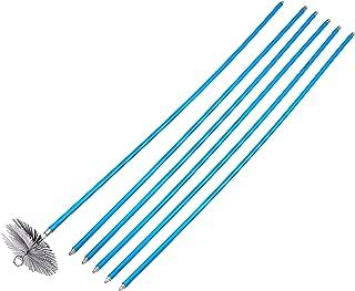 Vigor Blinky 40840-20 Kit Spazzacamino con 6 Canne da 140 cm, Diametro 20 cm