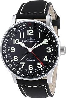Zeno Watch Basel - Pilot XL p554Z-a1 - Reloj de Caballero automático, Correa de Piel Color Negro