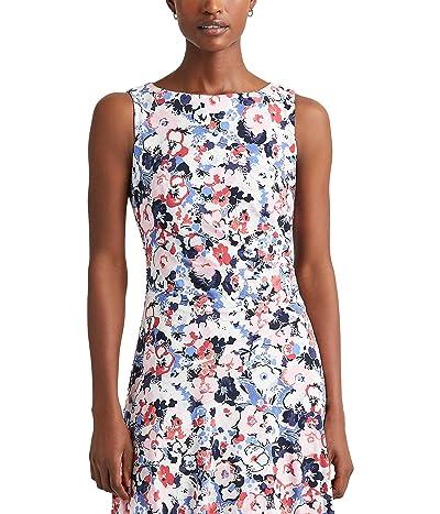 LAUREN Ralph Lauren Floral Sleeveless Jersey Dress