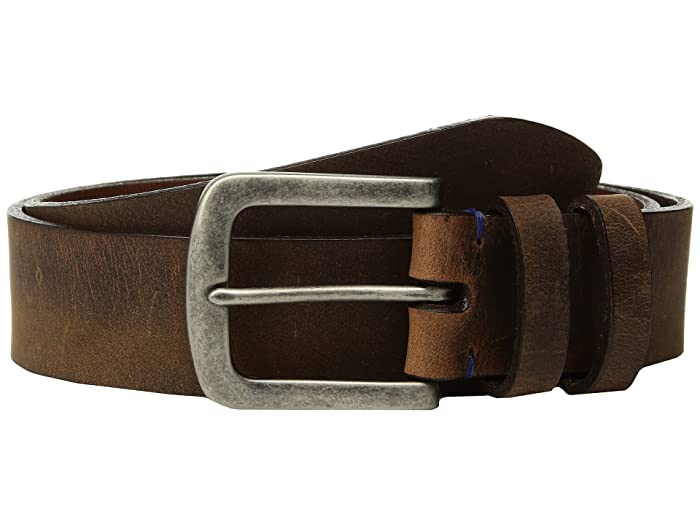 Torino Leather Co. 38mm Distressed Waxed Harness w/ Antique Nickel (Brown) Men
