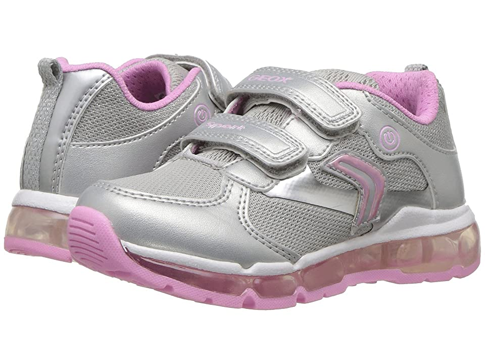 Geox Kids Android 14 (Toddler/Little Kid) (Silver/Pink) Girl
