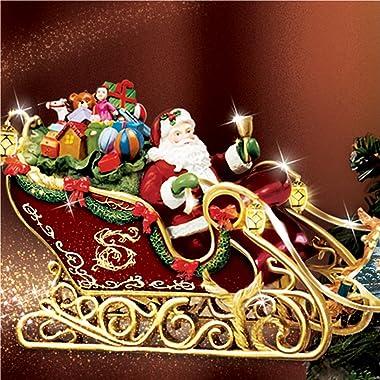 Thomas Kinkade Holidays in Motion Rotating Illuminated Tree Topper: Animated Christmas Decor by The Bradford Editions